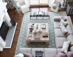 Gorgeous front room - a view from a loft. Hamptons Showhouse 2012