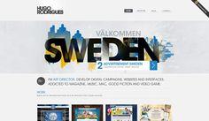 web-design website site cityscape sweden simple white yellow blue colorful minimal
