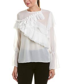 At Rue La La, shop today's must-have brands for her, him, home, and more - all up to off. New sales launch daily. Ruffle Top, Ruffles, Ruffle Blouse, Almost Friday, Color Patterns, Dress To Impress, Luxury Fashion, Product Launch, Tunic Tops