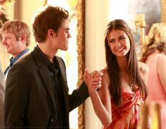 Prom scene in the third season, with the perfect couple ... Petrova and Salvatore