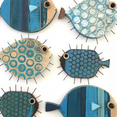 Newest listings 🐡🐟🐡 Fish Crafts, Clay Crafts, Wood Crafts, Diy And Crafts, Arts And Crafts, Paper Crafts, Whale Decor, Nautical Wall Decor, Fish Wall Art