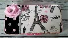 Baby Wipe Case - Paris and Polka Dots Baby Wipe Holder - Padded Baby Wipe Travel Case - Baby Girl's Stylish and Fashionable Baby Wipe Cover by Jaybrilyn on Etsy