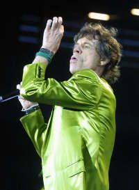 Rolling Stones Mick Jagger performs in V
