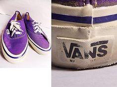 e76ecbdf473 VINTAGE 80s VANS Off the Wall Sz 6 Purple USA Skate Mens Womens Shoes  Sneakers Trainer