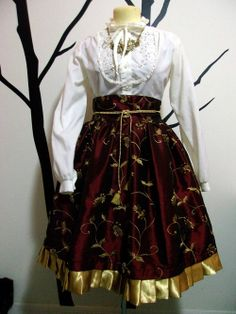 Royal Red Skirt Made to Order Size S M or L by TruleeDarling, $175.00