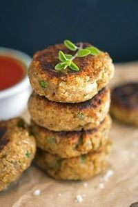 The Best Eggplant Patties (eggplant, onion, garlic, cheese, almond meal and some herbs)