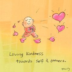 Buddha Doodle - Loving Kindness towards self & others. Tiny Buddha, Little Buddha, Buddha Zen, Zen Meditation, Meditation Quotes, Buddah Doodles, Buddha Wisdom, Buddha Sayings, Buddha Thoughts