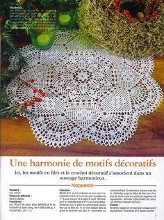 "Photo from album ""s on Yandex. Crochet Dollies, Crochet Doily Patterns, Crochet Diagram, Thread Crochet, Filet Crochet, Irish Crochet, Crochet Shawl, Knitting Patterns Free, Crochet Curtains"