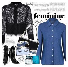 """Feminine"" by vanjazivadinovic ❤ liked on Polyvore featuring Giuseppe Zanotti, Huda Beauty, Tommy Hilfiger, dresslily and polyvoreeditorial"