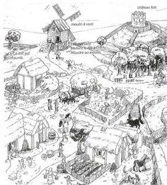 mewarn15 kleurplaat middeleeuwse stad