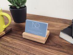 Wooden Business Card Holder   Handmade   Walnut   Oak by NicoleDavidFurniture on Etsy https://www.etsy.com/uk/listing/288918409/wooden-business-card-holder-handmade