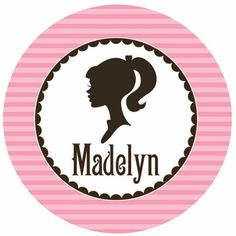 Vintage Doll Silhouette Personalized Kids Plate