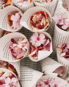 Looking for biodegradable confetti? It doesn't get much more eco-friendly that fresh flower confetti cones! Image by via . Biodegradable Confetti, Biodegradable Products, Bridal Musings, Floral Wedding, Diy Wedding, Wedding Things, Bouquet Wedding, Wedding Nails, Wedding Blog