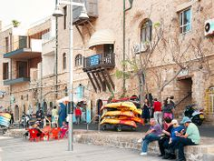Jaffa, Israel - Public Spaces, promenade along the Port of Jaffa, (נמל יפו)