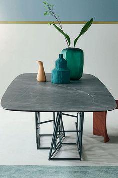 der keramiktisch tangle lebt von dem kontrast zwischen tischgestell und tischplatte entdecken sie jetzt das