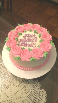 New cake designs birthday simple ideas Easy Cake Decorating, Birthday Cake Decorating, Cake Decorating Techniques, Cake Designs For Girl, Simple Cake Designs, Birthday Cake For Mom, Birthday Cupcakes, Birthday Cake With Flowers, Fondant Cakes