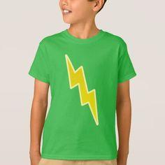 #Zap - Yellow Lightning Bolt T-Shirt - #cool #kids #shirts #child #children #toddler #toddlers #kidsfashion