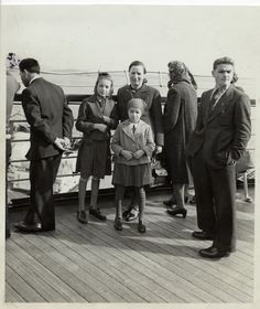 """""""A Deaf Austrian Jewish family on board the 'SS Rex,' en route from Genoa to New York."""""""