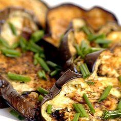 Roasted aubergine slices