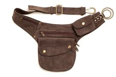 Leather Side Pouch: bumbag zak riem fanny pack nut gordel