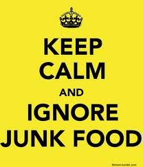 #GoUnDiet2013: I will keep calm and ignore junk food!
