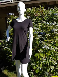 Miss BEE T shirt dress now in Black Shirt Dress, T Shirt, Vancouver, Bee, High Neck Dress, Tunic Tops, How To Make, Black, Dresses