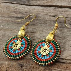 Shaped brass and waxed cotton funky tribal by cafeandshiraz, $52.00