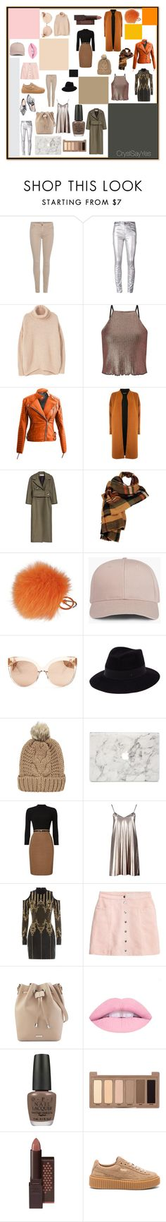 """Relooking DemiJournée ""Colorama"""" by crystelpi on Polyvore featuring 7 For All Mankind, Étoile Isabel Marant, MANGO, Miss Selfridge, Warehouse, Marni, Wilsons Leather, Furla, Linda Farrow et Maison Michel"