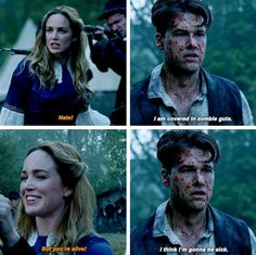 """I am covered in zombie guts"" - Nate and Sara #LegendsOfTomorrow"