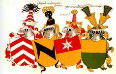 Vier Wappen / Four Coats of Arms / Cuatro Escudos Heráldicos