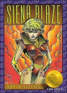 Siena Blaze - 1993 X-Men: Series 2 by Skybox Marvel Comic Character, Comic Book Characters, Comic Books, Marvel Comics Superheroes, Marvel Heroes, Marvel Comic Universe, Comics Universe, X Men, Marvel Cards