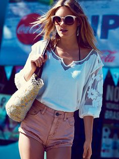 Free People FP New Romantics Tropicali Tee, $78.00