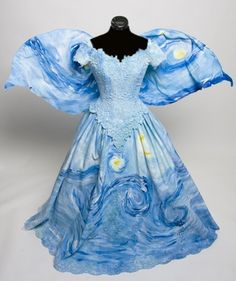 O. M. G.....Stunning Starry Night Fairy dress Inspired by Vincent by Deconstructress