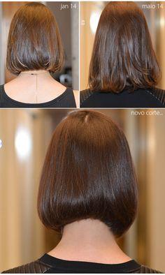 Um novo corte de cabelo, desta vez mais curtinho repicado e moderno. Amando esta vida nova com várias mudanças capilares.