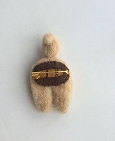 Shiba Inu Big Brooch   Wool felt   pim-pom (Pimpom)   Handmade mail order · sale Creema
