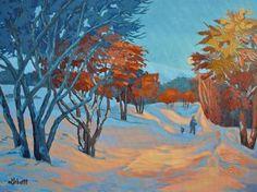 Sharron Labatt - Evening Walk 18 x acrylic/canvas Sarah James, Art Competitions, Canadian Art, Acrylic Canvas, Public Art, Art Boards, Landscapes, My Arts, Gallery