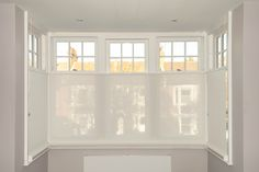 Yes he's been there all day long and now you need new window blinds. Living Room Blinds, House Blinds, Living Room Lounge, Living Rooms, Bay Window Blinds, Blinds For Windows, Bay Window Treatments, Window Coverings, Modern Net Curtains