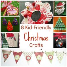Let your kids be included in the holiday decorating with these 8 kid-friendly Christmas crafts. Kids will love having fun making these crafts while staying occupied and being useful! #christmas #christmascrafts #christmascraftsforkids #kids #kidscrafts #holidaycraftsforkids #christmasdecor #christmastime #kidfriendlycrafts #craftbits