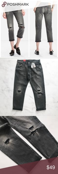 Levi's 501 CT Selvedge Denim Jeans The evolution of an icon. The 501® Original, now customized for you. The 501® CT is straighter at the waist, smaller in the seat, and features a tapered leg with a cropped inseam. Order true to size for a relaxed fit, or downsized for a sleek contemporary look. * 		100% Cotton * 		Mid rise * 		Relaxed through hip and thigh * 		Tapered leg * 		Cropped inseam Levi's Jeans Straight Leg