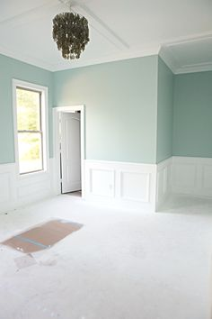 Benjamin Moore's Palladian Blue. Great coastal color. I can see it in just about any room in a home! bathroom