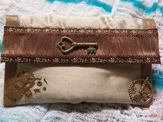 Steampunk change purse - makeup bag
