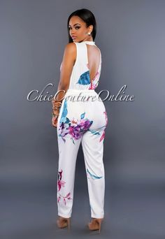 African Attire, African Dress, Chic Couture Online, Floral Jumpsuit, Diva Fashion, Jumpsuits For Women, African Fashion, Stylish Outfits, Girl Outfits