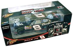 Dale Earnhardt Jr. #8 Budweiser HALL OF FAME TRIBUTE 1:24 Scale Diecast Car by Winner's Circle. $27.99. Special Limited Edition Package. 2006 Hall Of Fame Tribute: Special Commemorative Limited Edition. Diecast Body, Rubber Tires. Tampo-Printed Graphics. Adult Collectible Item (Ages 21 and up). Budweiser Logo-Officially Licensed. On April 27th, 2006 Dale Earnhardt was inducted into the International Motorsports Hall of Fame, crowning a career that has been unma...