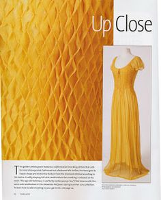 Vaune's Sewing Room: Threads Magazine and Smocking