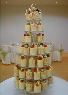 Individual Cheesecake Wedding Cakes