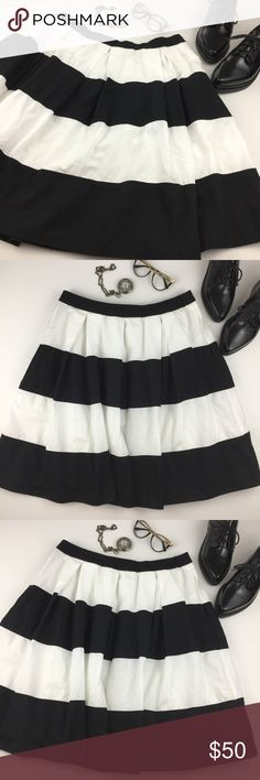 eShakti Striped Skirt In excellent condition. Has pockets! eshakti Skirts Midi