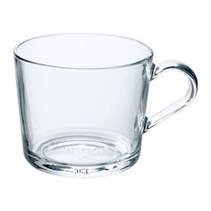 IKEA - IKEA Mug, clear glass, Made of tempered glass, which makes the mug durable and extra resistant to impact. May be complemented with IKEA coaster, 9 cm. Glass Coffee Mugs, Tea Mugs, Coffee Cups, Ikea 365 Dinnerware, Cocktail Glassware, Ikea Shopping, Vacuum Flask, Mug Cup, Coffee