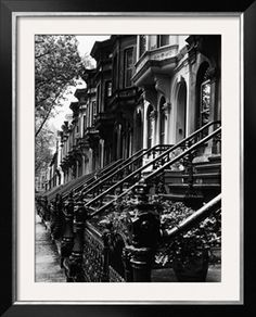 Stoops on Century Brooklyn Row Houses Photographic Print by Karen Tweedy-Holmes Brooklyn New York, New York City, New York Photographie, Nyc, Voyage New York, Black And White Aesthetic, New York Black And White, Karen, City Aesthetic