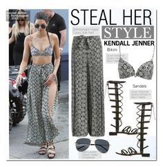 """Steal Her Style-Kendall Jenner"" by kusja ❤ liked on Polyvore featuring Yves Saint Laurent, Stealherstyle, celebstyle, kendalljenner and Zimmermann"