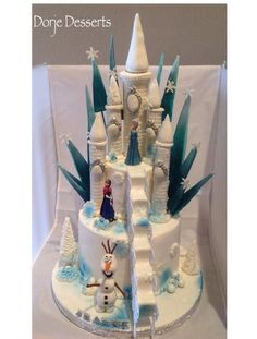 choice Castle Cake - For all your cake decorating supplies, please visit… Bolo Frozen, Torte Frozen, Elsa Torte, Frozen Castle Cake, Disney Frozen Cake, Frozen Theme Cake, Frozen Birthday Cake, Disney Cakes, Birthday Cakes